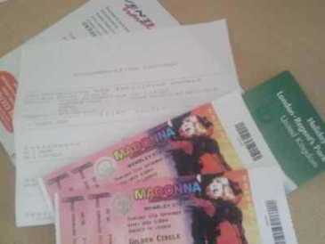Photo: Sells Concert tickets MADOVA VIP TWO TICKETS - LONDON WEMBLEY STADIUM.