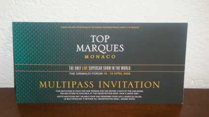 Photo: Sells Leisure ticket EXPOSITION VOITURES LUXE:TOP MARQUES - MONACO