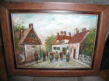 Photo: Sells Oil MAURICE UTRILLO - XIXth century