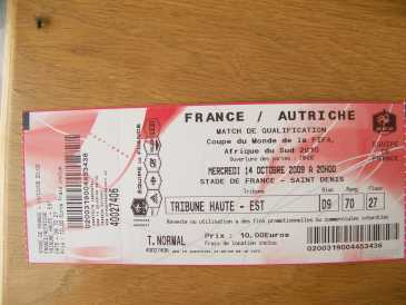 Photo: Sells Sport tickets FRANCE / AUTRICHE - STADE DE FRANCE