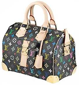 Photo: Sells Clothing and jewel Women - LOUIS VUITTON - SPEEDY 30  MULTICOLR NOIR