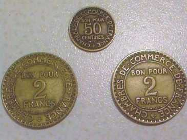 Search ads and auctions money coins bills italy for Bon pour 2 francs 1925 chambre commerce