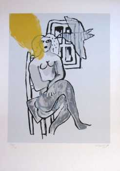 Photo: Sells Lithograph GUILLAUME CORNEILLE - LITHOGRAPHIE ORIGINALE - Contemporary