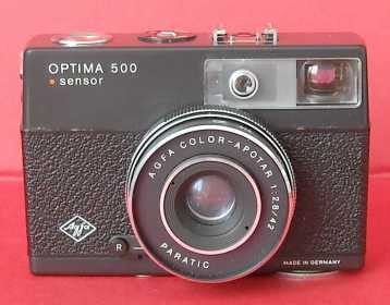Photo: Sells Camera AGFA - OPTIMA 500 SENSOR - (ANNO 1969)