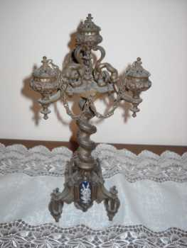 Photo: Sells Collection object OROLOGIO E CANDELABRI PERIODO NAPOLEONICO - ANTIQUARIATO - CANDELABRO E OROLOGIO NAPOLEONICO