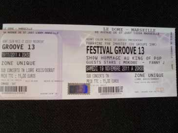 Photo: Sells Concert tickets FESTIVAL GROOVE 13 - MARSEILLE