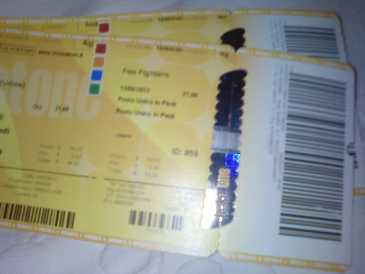 Photo: Sells Concert ticket FOO FIGHTERS - UDINE