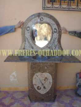 Photo: Sells Decoration SINK STONE MARBLE FROM MOROCCO FOSSILZED - SINK MARBLE FOSSILIZED STONE FROM MOROCCO