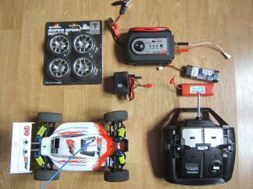 Photo: Sells Car AVIO ET TIGER - BUGGY MB4 4X4 ELECTRIQUE COMPLET + RADIO FUTABA
