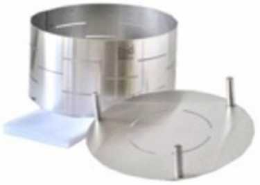Photo: Sells Gastronomy and cooking STAINLESS STEEL MOLD AND FOLLOWER, CHEESE 1.200 G