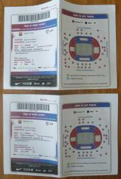 Photo: Sells Concert tickets FC BARCELONE -  LEVANTE - CAMP NOU