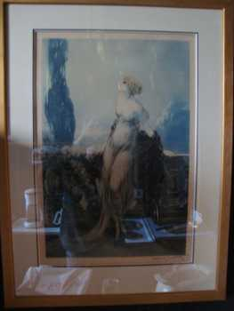 Photo: Sells Lithograph LOUIS ICART RADIERUNG ART DECO - XXth century