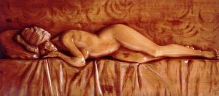 Photo: Sells High-relief Wood - DONNA CHE DORME - Contemporary