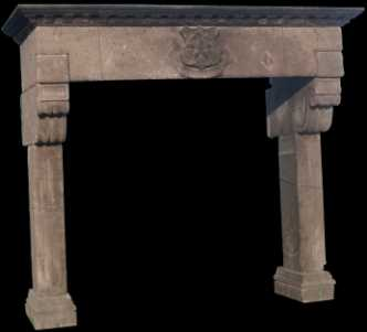 Photo: Sells High-relief ANTIQUE FIREPLACE - XIXth century