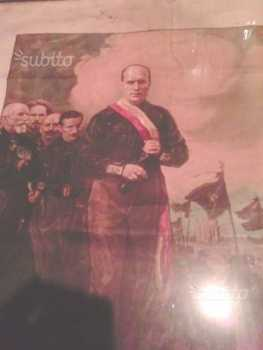 Photo: Sells Photo / poster MUSSOLINI STAMPA AUTOGRAFA - Historical characters