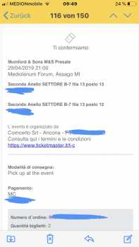 Photo: Sells Concert tickets MUMFORD AND SONS - MILAN