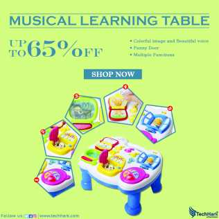 Photo: Sells Model TECHHARK - MUSICAL LEARNING TABLE