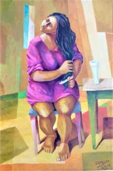 Photo: Sells Oil DONNA CHE SI PETTINA - Contemporary