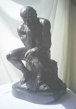 Photo: Sells Statue Bronze - DER DENKER - XXth century