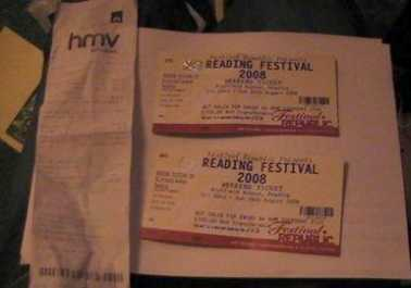 Photo: Sells Concert ticket MUSIC FESTIVALS - READING